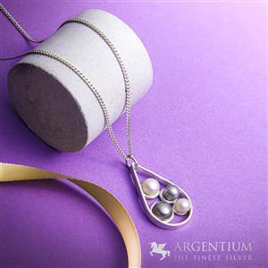 935 Argentium Drop Pearl Pendant Kit