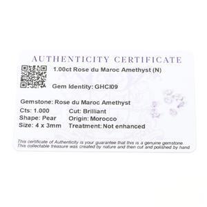 1cts Rose du Maroc Amethyst 4x3mm Pear  (N)