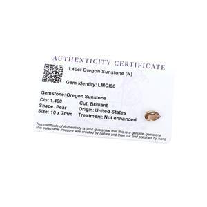 1.4cts Oregon Sunstone 10x7mm Pear  (N)