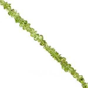 200cts Peridot Bead Nugget Approx 2.5x2 to 8x3mm, 120cm Strand