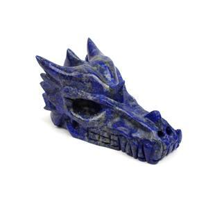 Lapis Dragon Skull Approx 4""