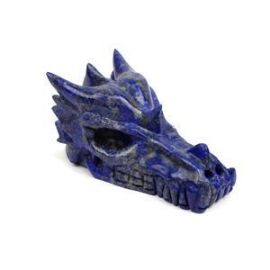 "Lapis Dragon Skull Approx 4"""