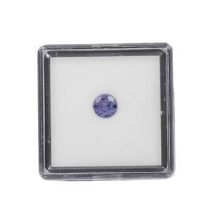 0.40cts AA Tanzanite Brilliant Round Approx 5mm Loose Gemstone (1pc)