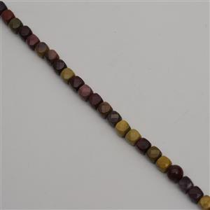 220cts Mookite Faceted Cubes Approx 8mm, 38cm Strand