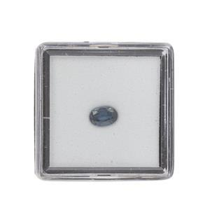 0.45cts Teal Kyanite Fancy Oval Approx 6x4mm Loose Gemstone (1pc)