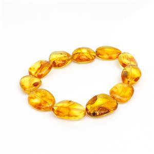 Baltic Cognac Amber Free Form Beads Approx 18x11mm, 20cm Strand