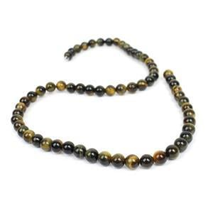 90cts Blue & Yellow Tiger Eye Plain Rounds Approx 6mm, 38cm