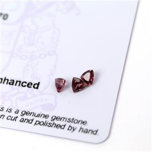 0.65cts Rajasthan Garnet 4x4mm Triangle Pack of 3 (N)