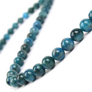 """200cts Neon Apatite Smooth Rounds Approx 8mm 15-16"""""""