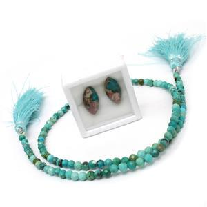 Brass & Turquoise Filigree Wire Kit
