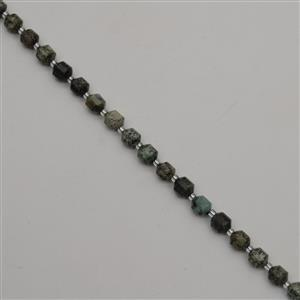 110cts African Jasper Faceted Satellite Beads Approx 7x8mm, 38cm Strand