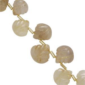 Golden Rutile Quartz Gemstone Strand