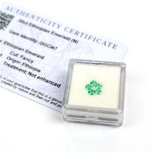 0.5cts Ethiopian Emerald 3x3mm Round Pack of 5 (N)