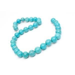 350cts Dyed Blue Magnesite Plain Rounds Approx 12mm, 38cm Strand