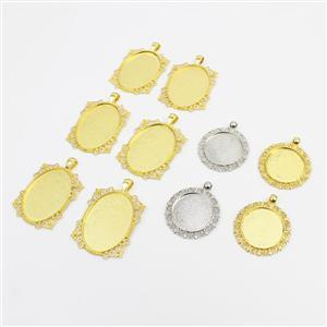 Bezel Collection! Inc; Silve Rounds, Gold Rounds & Ovals. 10 In Total.
