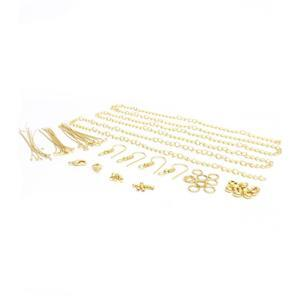 Gold Plated Base Metal Essential Findings Pack
