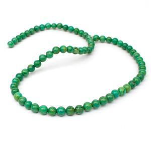 100cts Green Plain Rounds Approx 6mm 38cm
