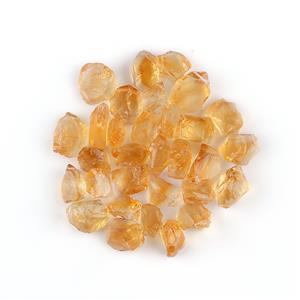 95cts Citrine Drilled Rough Assortment.