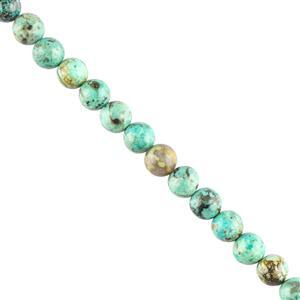 Early Bird - 80cts African Turquoise Plain Rounds Approx 6mm, 28cm Strand.