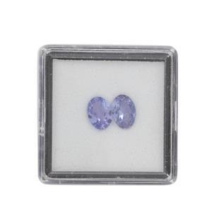 1.15cts Tanzanite Brilliant Oval Approx 7x5mm Loose Gemstone (Pack of 2)