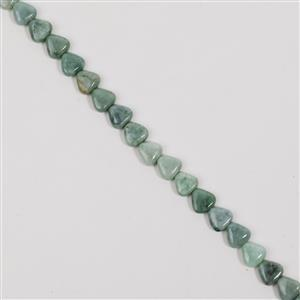 180cts Burmese Jade Triangle Approx 10mm, 38cm