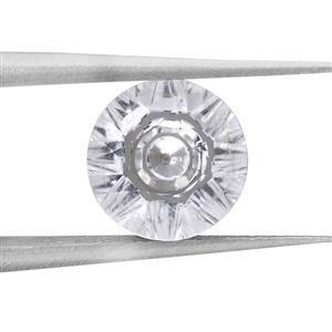 1.4cts Quasar Cut White Topaz 8x8mm Round  (N)