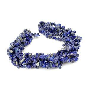 "1060cts Lapis Lazuli Chips Approx 4x7 to 5x8mm, 100"" Endless Chips Strands"