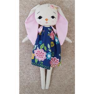 Rosie Floral Rabbit Toy Bundle: Fabric (0.5m), FQs (2pcs), 7 Skeins & Toy Stuffing