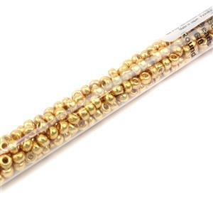 Miyuki Galvanised Gold Seed Beads 6/0 (20GM/TB)