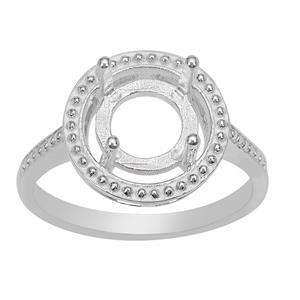 925 Sterling Silver Halo Ring Mount (To fit 8mm Gemstones)