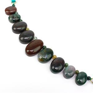 140cts Fancy Jasper Oval Approx 15x25mm,15x20mm,12x16mm, Round 4mm, 8cm Loose Strands