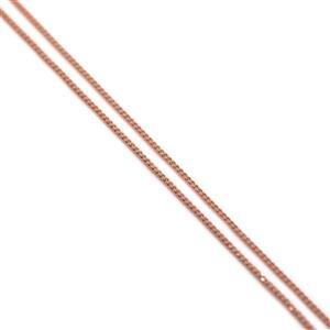Rose Gold Plated 925 Sterling Silver Curb Chain 50cm/20""