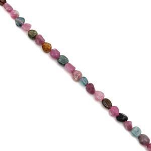 90cts Tourmaline Tumble Nuggets Approx 6x8mm, 38cm Strand