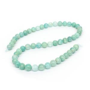 162cts Multi Colour Russian Amazonite Plain Rounds Approx 8mm, 38cm Strand