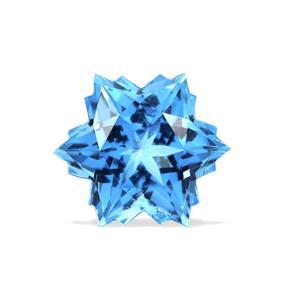 4.8cts Swiss Blue Topaz 10x10mm Snowflake  (I)
