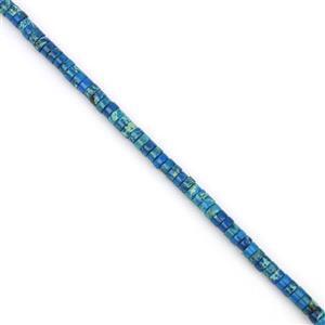 50cts Blue Terra Jasper Heshi Beads Approx 4x2mm, 38cm