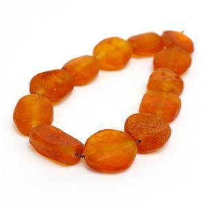 Baltic Orange Butterscotch Amber Ovals Approx. 12x8-17x2mm,  20cm Strand
