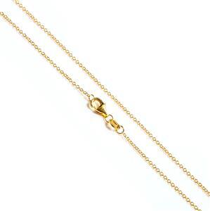 Gold Plated 925 Sterling Silver Cable Chain Approx 45cm/18""