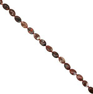 230cts Poppy Jasper Puffy Ovals, Approx 13x18mm, 38cm strand