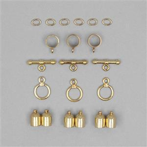 Kumihimo Accessory Pack Gold Plated 3mm (3pack) FNZX41