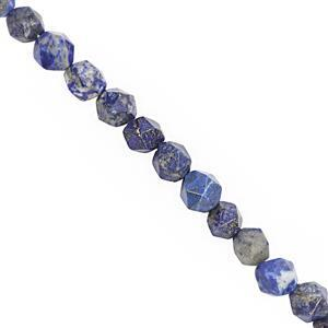 102cts Lapis Lazuli Faceted Star Cut Approx 6 to 7.5mm, 28cm Strand