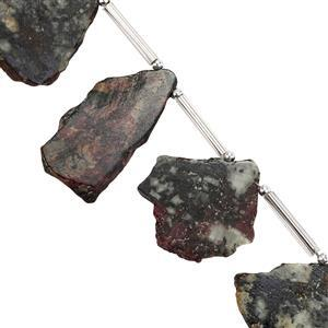 44cts Eudialyte Side Drilled Flat Irregular Approx 13x10mm to 27x16mm 11cm Strand