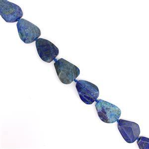 863cts Lapis Lazuli Faceted Flat Nuggets Approx 30x40 - 31x42mm Approx 9pcs strand