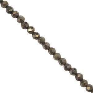 Pyrite Seed Beads Strand