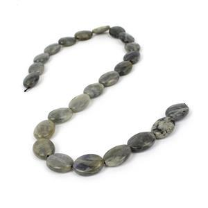150cts Labradorite Faceted Ovals Approx 16x12mm, 38cm Strand