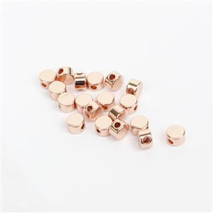 Rose Gold Plated Base Metal Circle Spacer Beads, Approx. 4mm (20pk)