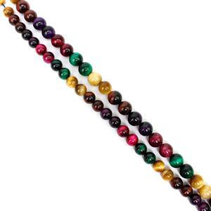 Double Trouble Multi Colour Tiger's Eye Rounds 10mm and 12mm!