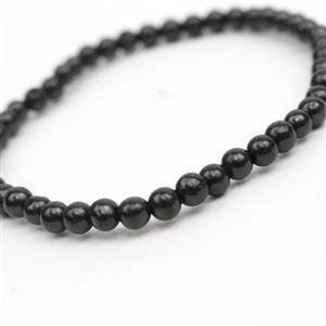 4mm Shungite Rounds Bracelet