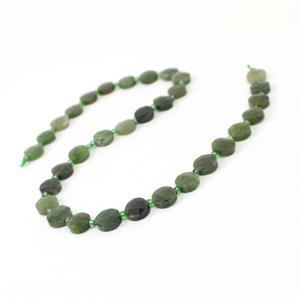 120cts Canadian Nephrite Faceted Coins Approx 10mm, 38cm