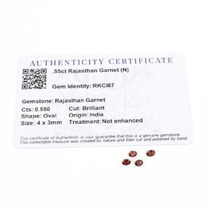0.55cts Rajasthan Garnet 4x3mm Oval Pack of 4 (N)